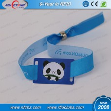 13.56MHZ Fudan F08 1K RFID Fabric Wristband For Event