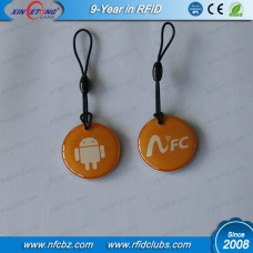 30MM NTAG213 NFC Hang Tag with Gold bottom