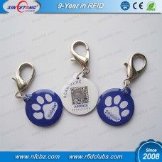 RFID NFC PET Dog and Cat Tag with Lobster Metal Ring