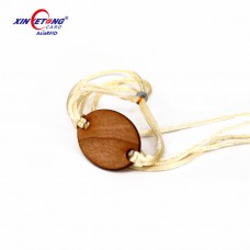 13.56MHZ NTAG213 wood small card Fabric belt Wooden Wristband